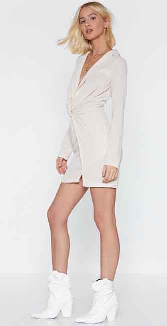 Twist You Were Here Mini Dress from Nasty Gal